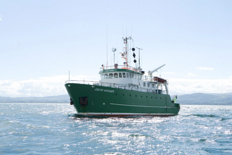 The RV Celtic Voyager, pictured, and RV Celtic Explorer will host students on 13 survey legs from February to December 2020