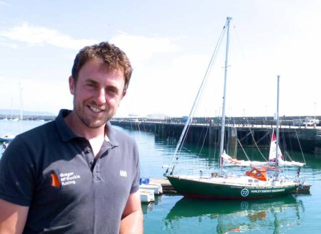 Gregor McGuckin with his yacht Hanley Energy Endurance in Dun Laoghaire, months before drama unfolded in the Souther Ocean