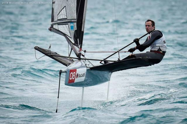 RCYC sailor David Kenefick, who was Ireland's top performer at last year's World Championships on Lake Garda, is just two points off tenth overall after six races sailed