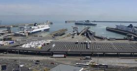 Giant carbon neutral ferries will take to the sea (Dover-Calais) in four years after P&O signed a €260 million (£229m) contract with a Chinese shipyard. Above AFLOAT adds ferries including on right a 'Darwin' class, one of five existing P&O ships that serves the UK / Europe's busiest ferryport.