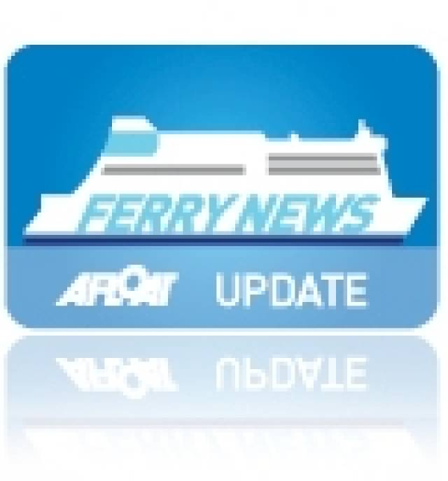 Ferry Falls from Crane in Galway Docks