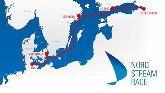 From 25th August to 7th September, the 1,000 nautical mile race course follows the Nord Stream pipeline from Kiel to Saint Petersburg