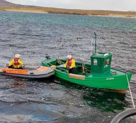 Arranmore RNLI assist the distressed fisherman off Gola Island