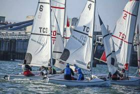 Team Racing in Dun Laoghaire Harbour