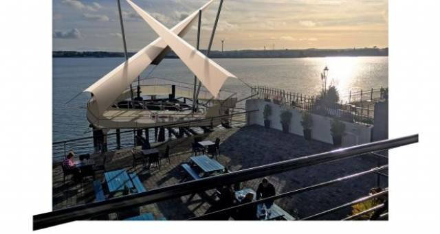 Artist's impression of the planned regeneration of Heartbreak Pier in Cobh. A new phase of investment will see the creation of a contemporary walkway structure to provide a viewing point for visitors.