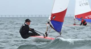 Ethan McCormac of Cushendall Sailing and Boating Club at the Topper Nationals in Co Antrim earlier this month
