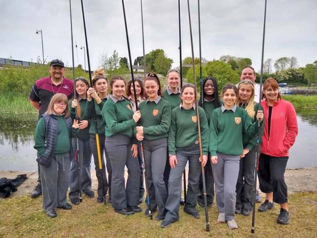 TY students from Lanesboro Community College visiting their local angling hub last week