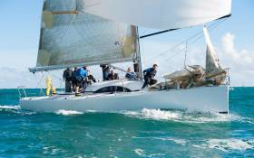 Rob McConnell's A35 Fool's Gold from Dunmore East is a former overall champion of the Scottish Series, and expected to do well in this year's edition currently under way in Tarbert, Loch Fyne