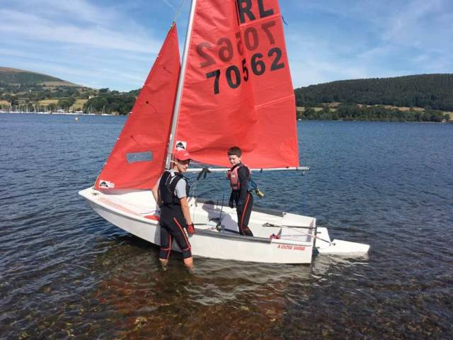 Eoghan Duffy and Cathal Langan at this past weekend's UK-Mirror Nationals in the Lake District