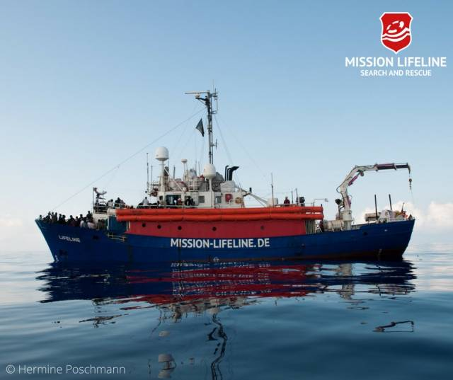 MV Lifeline, which is carrying 234 rescued migrants