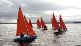 The Squib fleet racing at Lough Derg