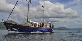 The IWDG's research vessel Celtic Mist will be cruising clockwise around Ireland from 7 May till late July