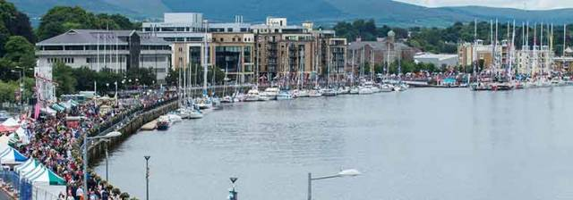 Derry during a previous Clipper race stopover
