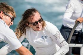 Grind on…..Annalise Murphy putting in the work on Turn the Tide on Plastic