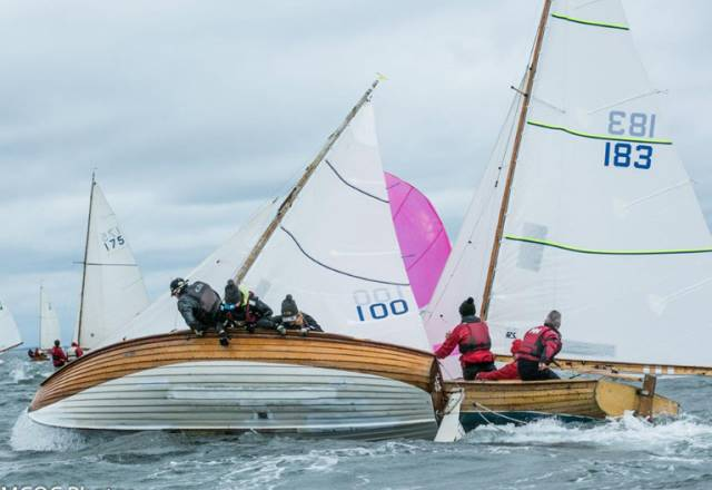 Breezy conditions for Foynes Mermaid Zest, number 100 (Anna Lowes, Bev Lowes and Mary McCormack) and number 183 Wanago, Robert Winters, Paul Winters and Remi Steger