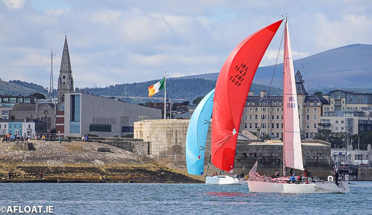 28 boats are entered for ISORA's first offshore of the season that will race separately in Wales and Ireland due to COVID. The biggest is fleet is expected for the start off Dun Laoghaire Harbour (above) on Saturday morning