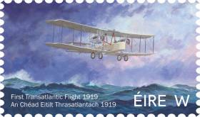 The stamp by Clare artist Vincent Killowry depicts the Vimy Vickers above an Atlantic swell