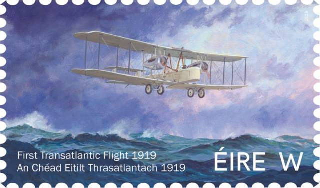 Alcock & Brown's First Transatlantic Airmail Delivery Marked by An Post