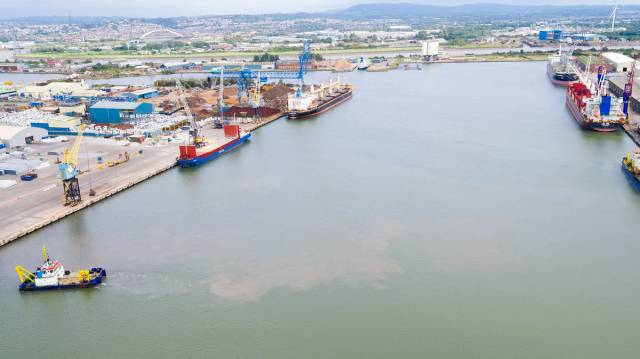 The South Dock at the Port of Newport in south Wales can accommodate vessels of up to 40,000 dwt.
