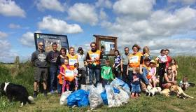 A County Cork Community cleaning-up at Ballynamona Beach