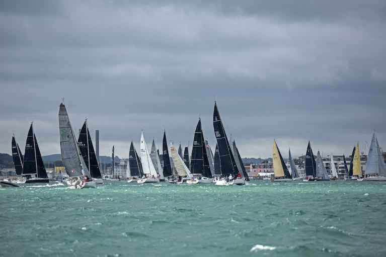 133 boats took part in the Race the Wight organised by the Royal Ocean Racing Club