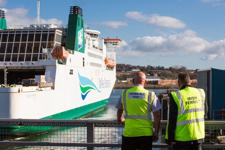 Irish Ferries throws a lifeline as it signed a 10 year contract to continue using the south Wales ferryport of Pembroke Dock which links Rosslare Harbour. AFLOAT also adds is the operator's Isle of Inishmore, off the jetty of the Pembrokewhire port. In neighbouring Fishguard Harbour (owned by Stena) which also competes with their route also linking with the Wexford port.