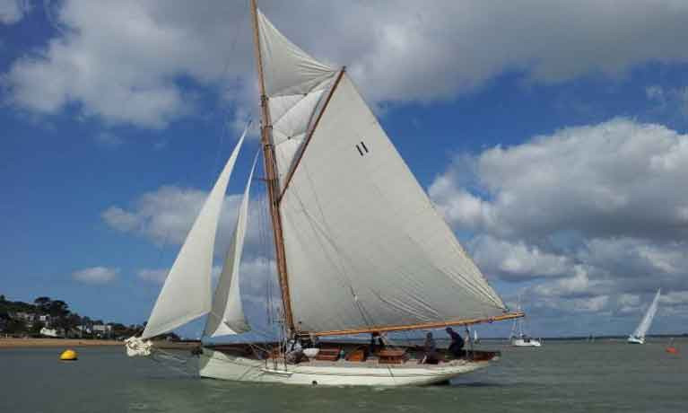 David Aisher's 60ft George Wanhill designed classic Thalia will sail to Cork this year for the tricentenary of Royal Cork Yacht Club