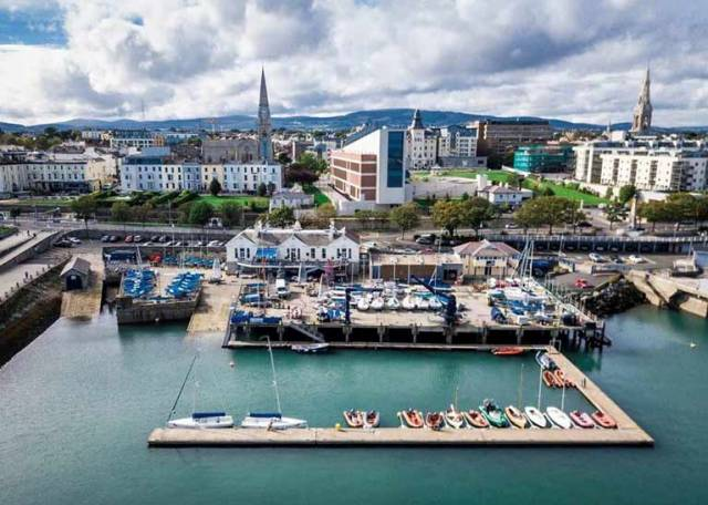 The award-winning National Yacht Club makes the best use of every square inch of space for boat facilities in its secluded and hospitable corner of Dun Laoghaire Harbour. Photo: Beau Outteridge