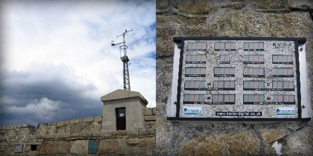 The previous location of the weather station in Dun Laoghaire Harbour