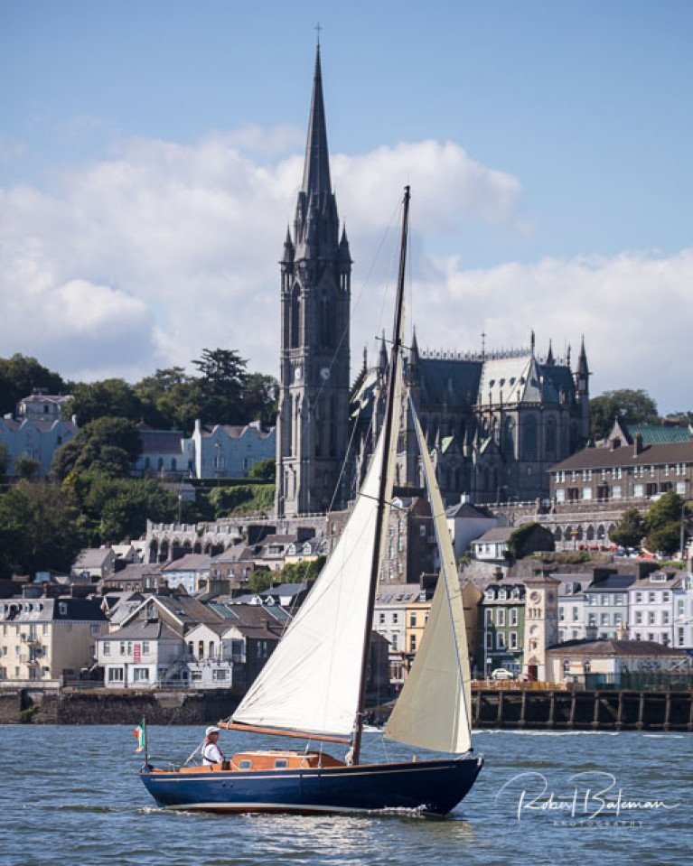 Summer perfection – Pat Murphy's 23ft Pinkeen celebrates her seventy years with dreamlike sailing off Cobh