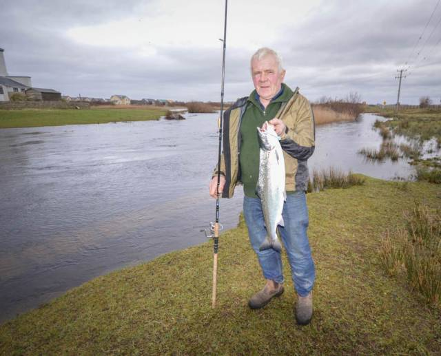 Bill Likely with his prized catch at the Drowes Fishery in Co Leitrim