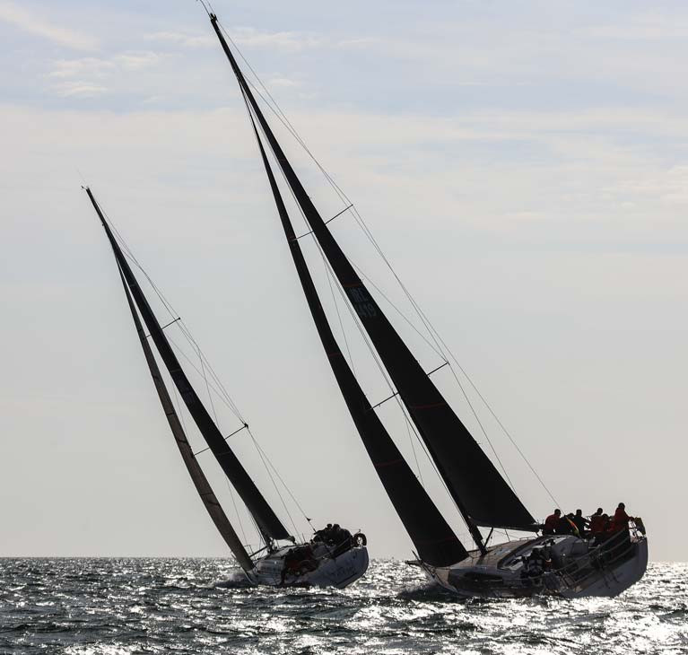 ISORA yachts on a 2019 coastal course on Dublin Bay