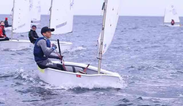 Tralee Bay Sailor Justin Lucas Takes Big Lead At Optimist Trials in Ballyholme