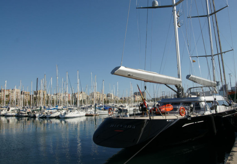 File image of the marina at Port Bell in Barcelona