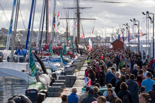 Thousands of spectators are expected to visit the Route du Rhum race village at St Malo, opening on October 24