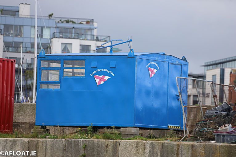 The DBSC West Pier starters hut has not been installed at Dun Laoghaire this season