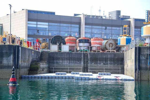New pontoons on site for the forthcoming Irish Sailing Performance HQ at Dun Laoghaire