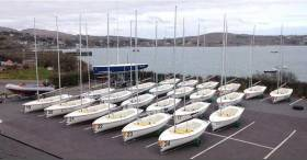 Schull's own TR3.6 dinghies ready for the junior all Ireland sailors
