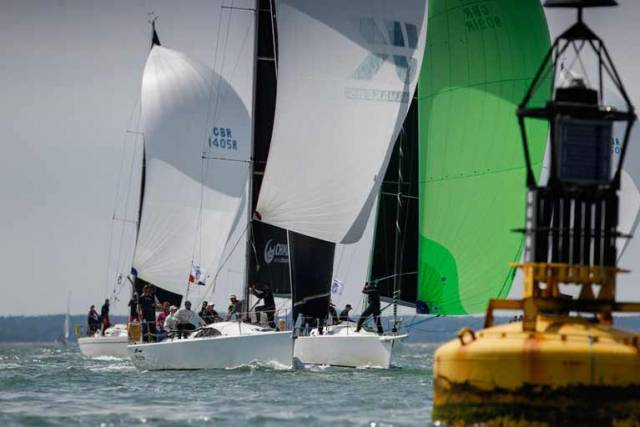Rob McConnell's Fools Gold competing in Cowes this week a the IRC Europeans. The Waterford Harbour crew finished fourth overall