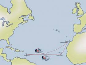 The ARC route across the Atlantic