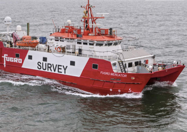 The Fugro Mercator is one of four survey vessels that will work on the Dublin Array project for the next three months