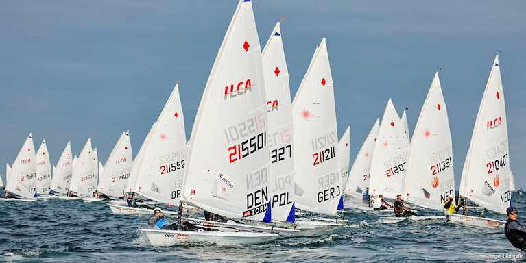 A Laser Radial start at Kiel Week