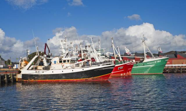 Fishing trawlers at Killybegs Fishery Harbour Centre