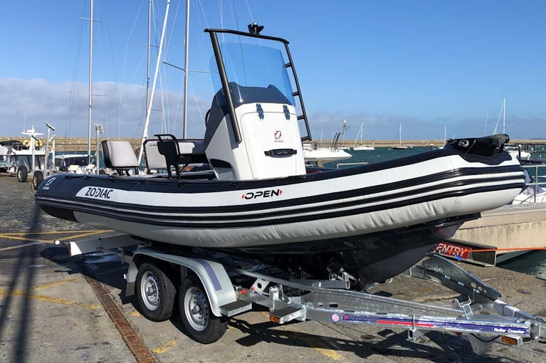 The new Zodiac Open 5.5 has a Deep V fibreglass hull