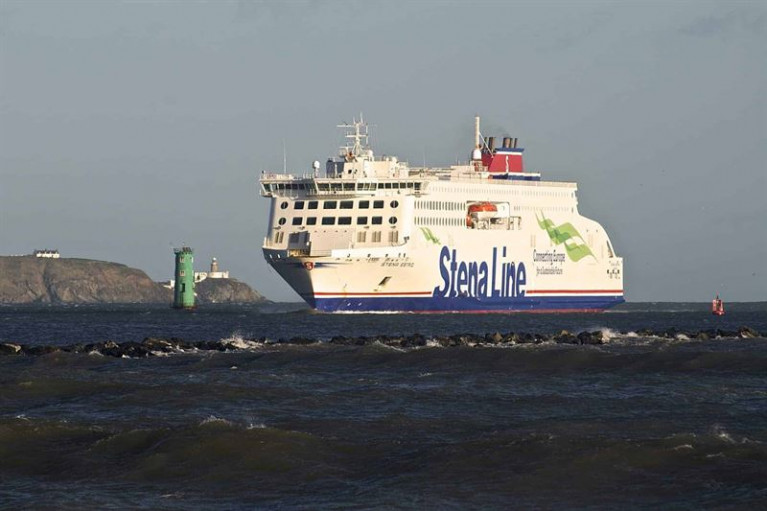 Passenger travel restrictions due to Covid-19 has been imposed by the Irish Government. Above: an inbound sailing of Stena Estrid as the new ropax enters Dublin Port from Holyhead in the UK.