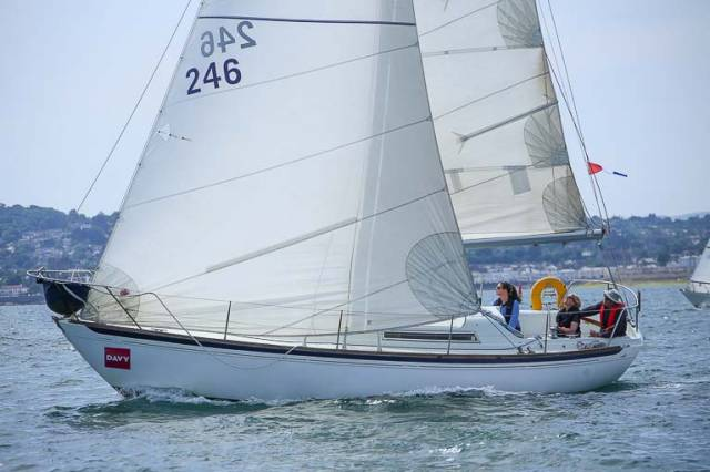 Saki, P McCormack, was second in the DBSC Cruisers Three Race