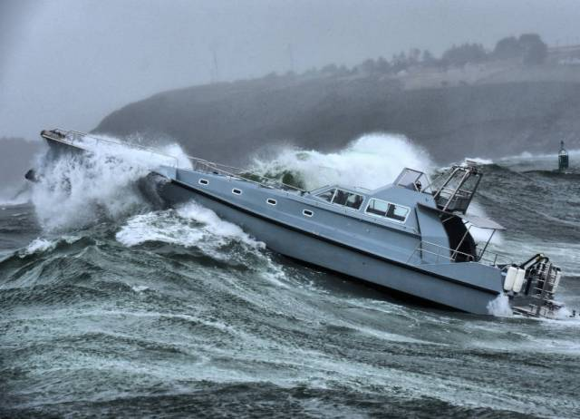 The new XSV20, Safehaven, put through its paces during stormy August sea trials in Cork