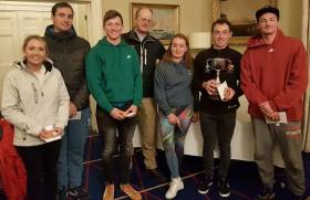 RStGYC Commodore Peter Bowring (centre) with the winning Baltimore SC team including captain Mark Hassett (second right)