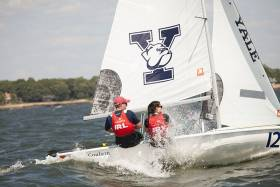 A Trinity crew competing at last year's event in Connecticut