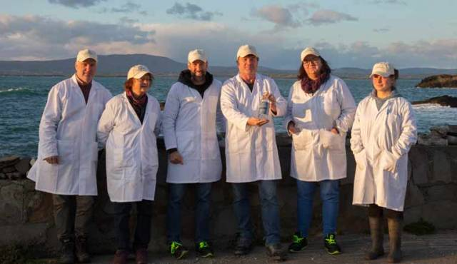 Cape Clear Distillers (from left) Seán Ó Drisceoil, Noreen Court, Chris Mason, Mairtín Ó Méaloid, Ruth Court & Samantha Parsons